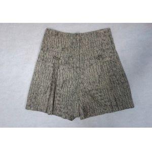 High Waisted Snake Print 🐍 Silk Pleated Shorts